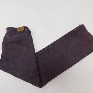 Eddie Bauer 10 Purple Denim Jeans Bootcut Cotton B
